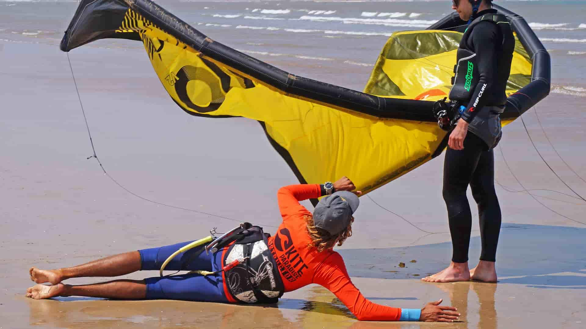 Kitesurf nage tractée